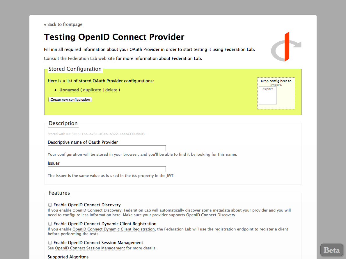 OpenID Connect Provider Testing