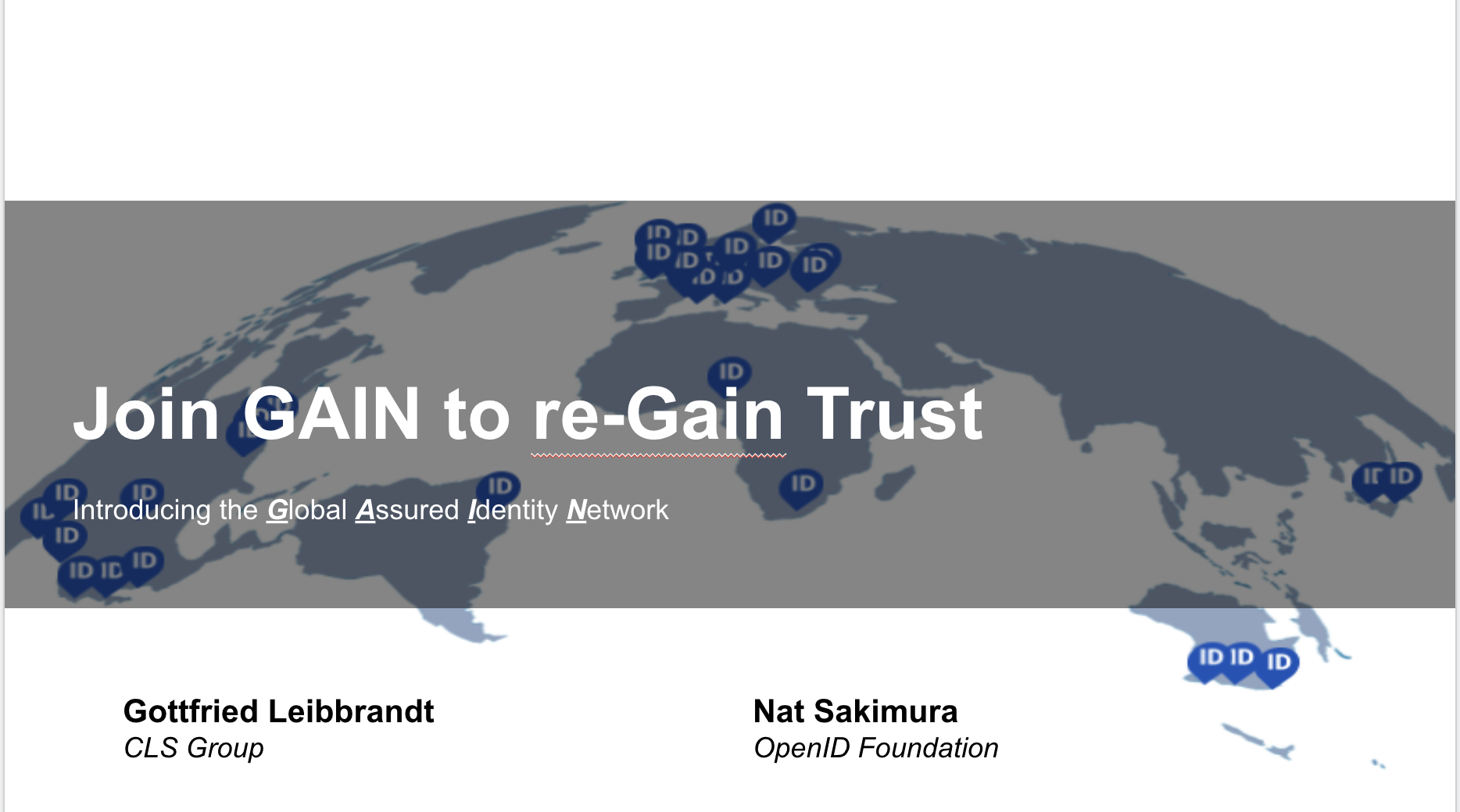 Join GAIN to re-GAIN Trust
